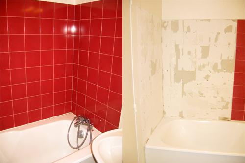 faire soi m me r novation d 39 une salle de bains remplacer le carrelage mural le blog d. Black Bedroom Furniture Sets. Home Design Ideas